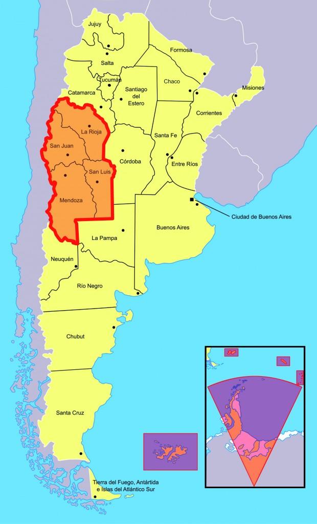Mappe regione cuyo