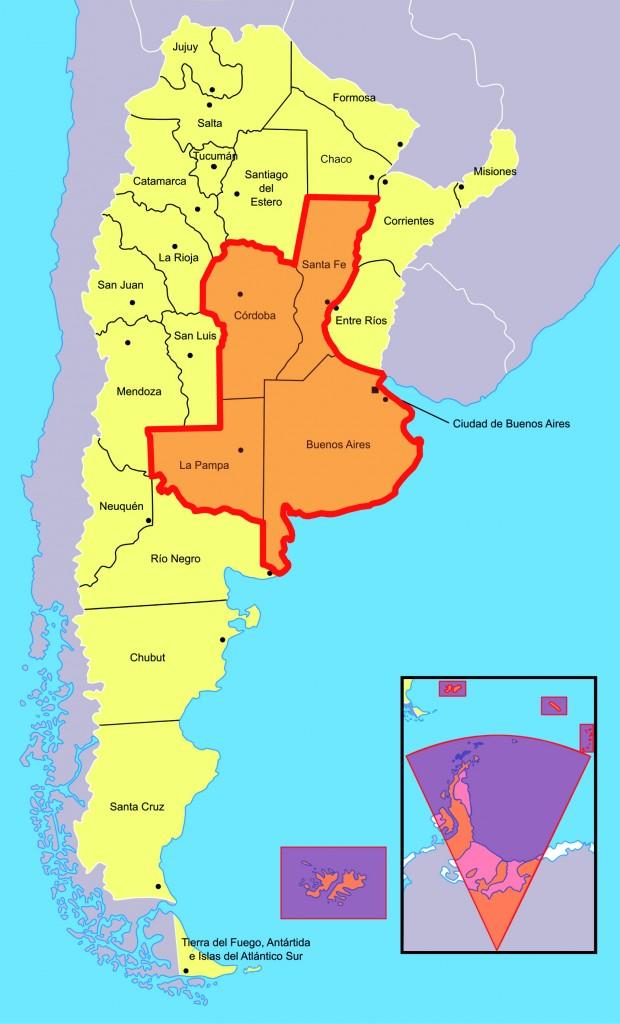 Mappe regione pampas