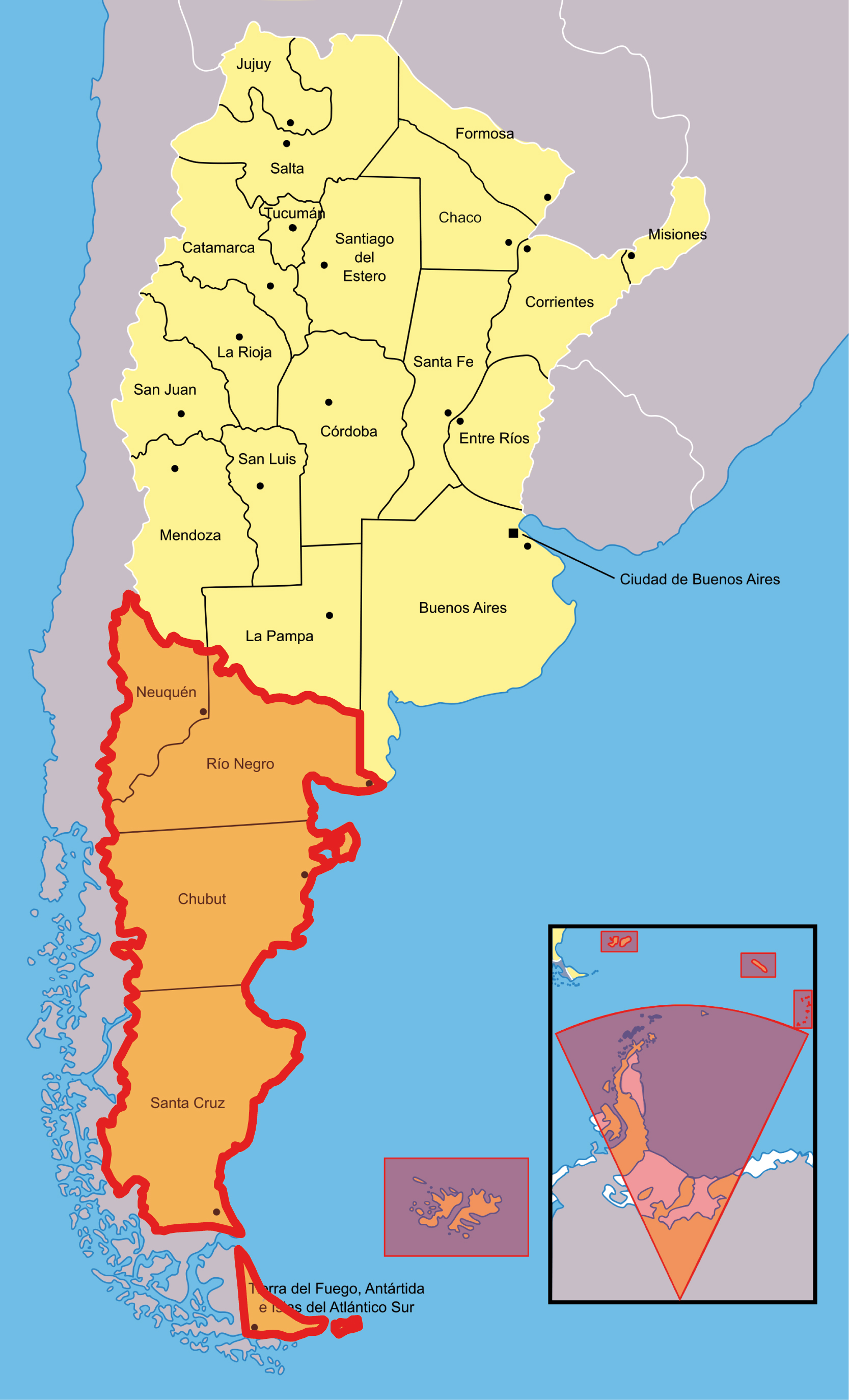 Patagonia Cartina Geografica.Patagonia Plaza Argentina