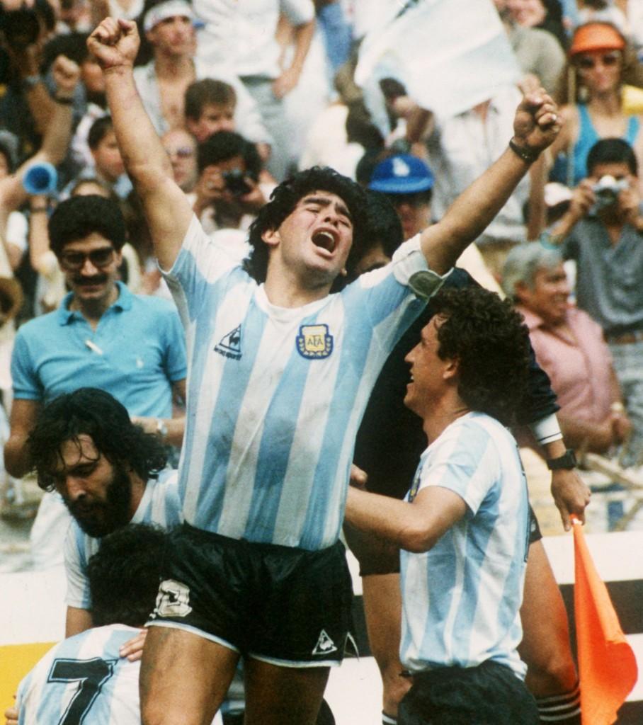 Fußball-WM 86: Finale: Diego Maradona jubelt